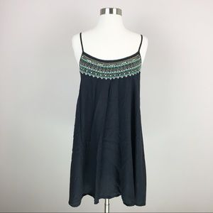American Eagle Beaded Flowy Shift Dress Size M
